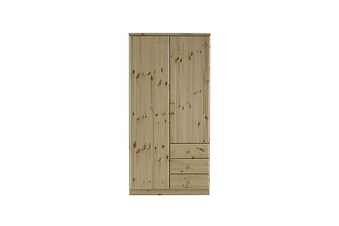 Ribe Garderob 101 cm - Natur/Svart - Möbler - Förvaring - Garderober & garderobssystem