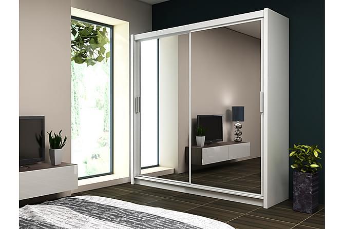 Valga Garderob 203 cm - Vit - Möbler - Förvaring - Garderober & garderobssystem