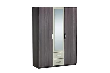 Vallerani Garderob 143 cm 3 Dörrar 2 Lådor Spegel