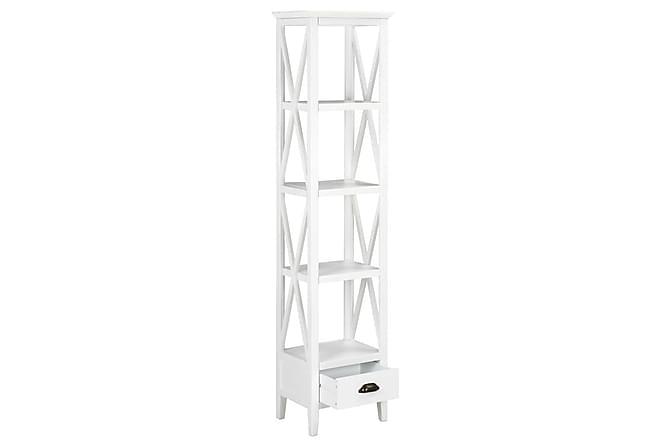 Bokhylla med 1 låda vit 40x30x170 cm MDF - Möbler - Förvaring - Hyllor