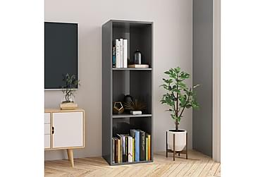 Bokhylla/TV-bänk grå högglans 36x30x114 cm spånskiva