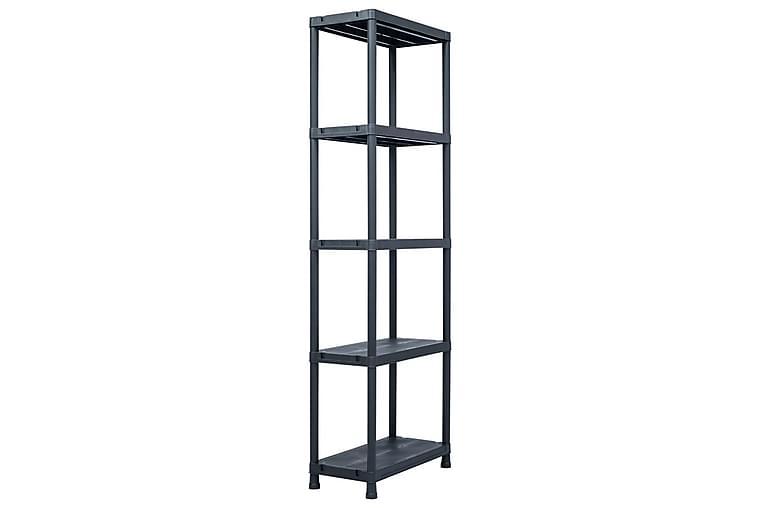 Förvaringshylla svart 125 kg 60x30x180 cm plast - Svart - Möbler - Förvaring - Hylla