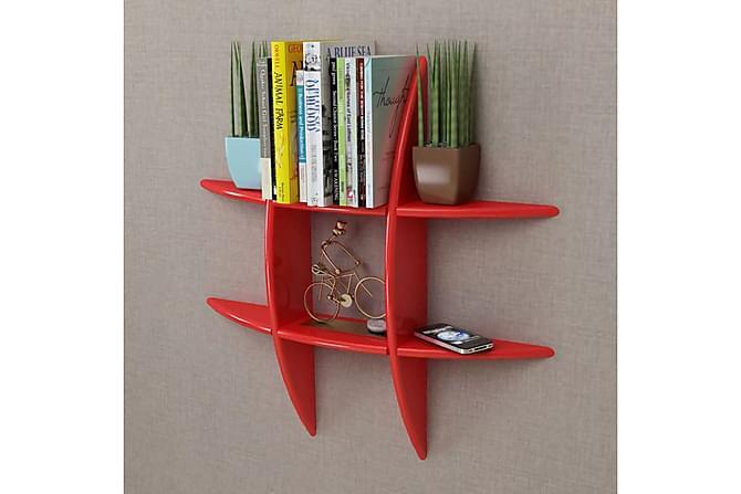Flytande bok/CD-vägghylla i MDF röd - Röd - Möbler - Förvaring - Hyllor