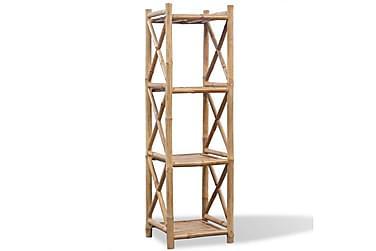 Hylla i bambu med 4 nivåer