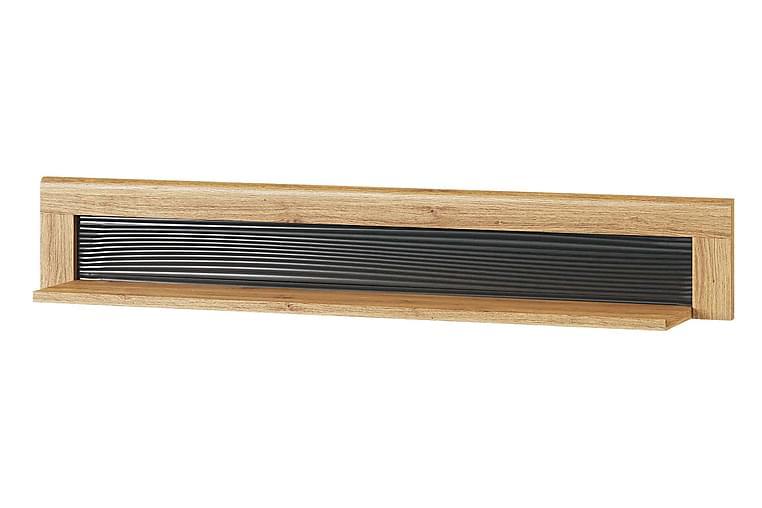 Keia Vägghylla 144 cm - Ek/Svart - Möbler - Förvaring - Hylla