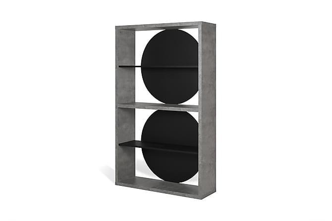 Temahome Sudnur Bokhylla 115 cm - Svart/Betong - Möbler - Förvaring - Hyllor