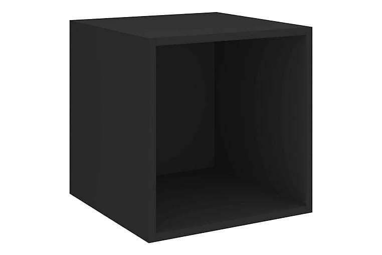 Väggskåp svart 37x37x37 cm spånskiva - Svart - Möbler - Förvaring - Förvaringsskåp