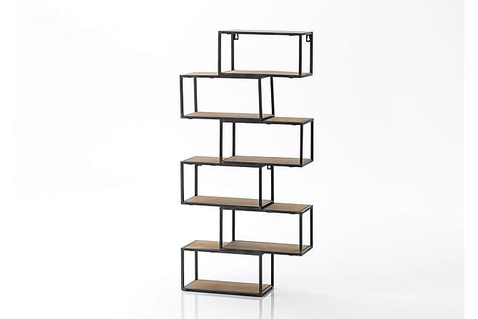 Vyanna Hyllsystem 75x150 cm - Svart - Möbler - Förvaring - Hyllor