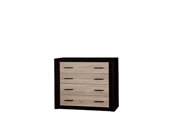 Dallas Skänk 107x43,5x91 cm - Svart|Trä/natur - Möbler - Förvaring - Sideboard & skänk
