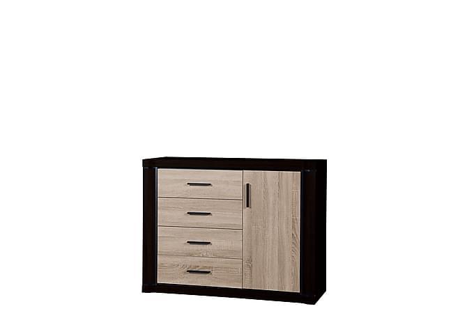 Dallas Skänk 117x43,5x91 cm - Beige|Svart - Möbler - Förvaring - Sideboard & skänk