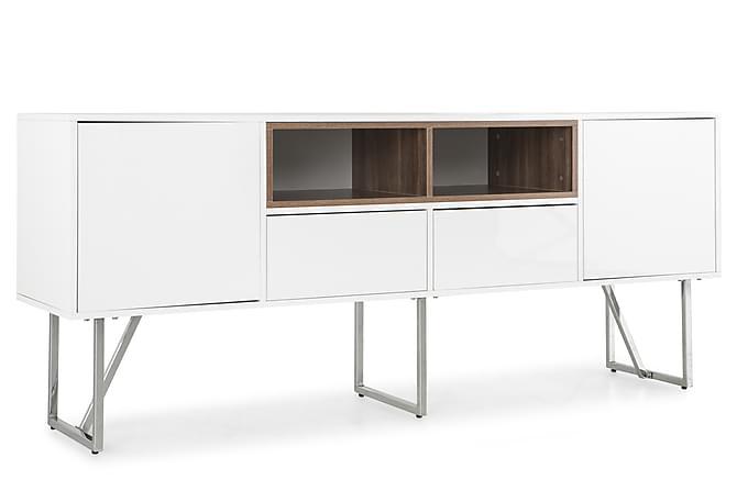 Omtalade Manhattan Sideboard 180 cm - Krom/Vit/Valnöt | Trademax.se NZ-25