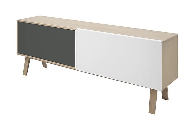 Miso Sideboard 190 cm Hög - Ljus Ek/Stål/Vit - Möbler - Förvaring - Sideboard & skänk