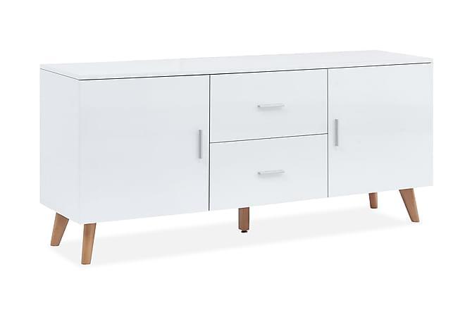 Skänk 160x40x70 cm MDF vit - Vit - Möbler - Förvaring - Sideboard & skänk