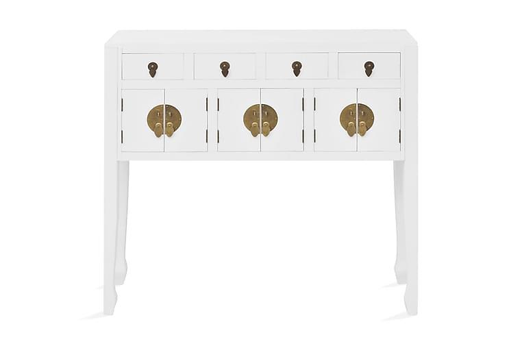 Skänk i kinesisk stil massivt trä vit - Vit - Möbler - Förvaring - Sideboard & skänk