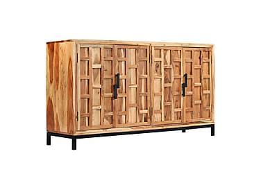 Skänk massivt akaciaträ 145x40x80 cm
