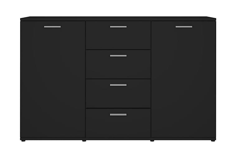 Skänk svart 120x35,5x75 cm spånskiva - Svart - Möbler - Förvaring - Sideboard & skänk