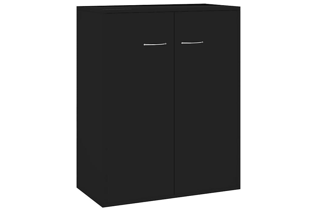 Skänk svart högglans 60x30x75 cm spånskiva - Svart - Möbler - Förvaring - Sideboard & skänk