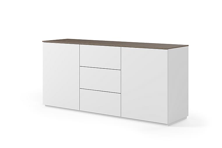 Temahome Kolesar Skänk 180x84 cm - Vit/Mörkt Trä - Möbler - Förvaring - Sideboard & skänk