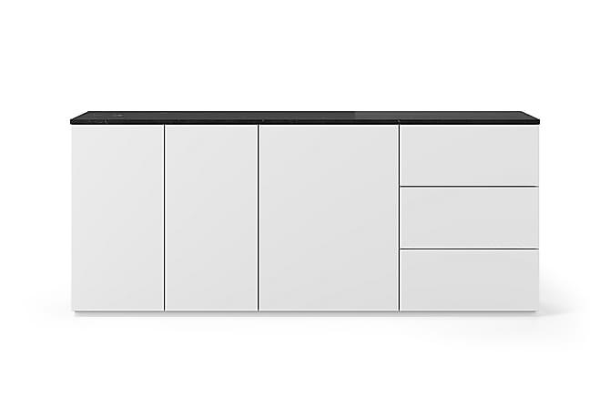 Temahome Kolesar Skänk 200x84 cm Marmor - Vit/Svart - Möbler - Förvaring - Sideboard & skänk