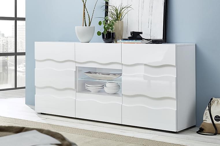 Wavee Sideboard 181x42 cm - Vit Högglans - Möbler - Förvaring - Sideboard & skänk