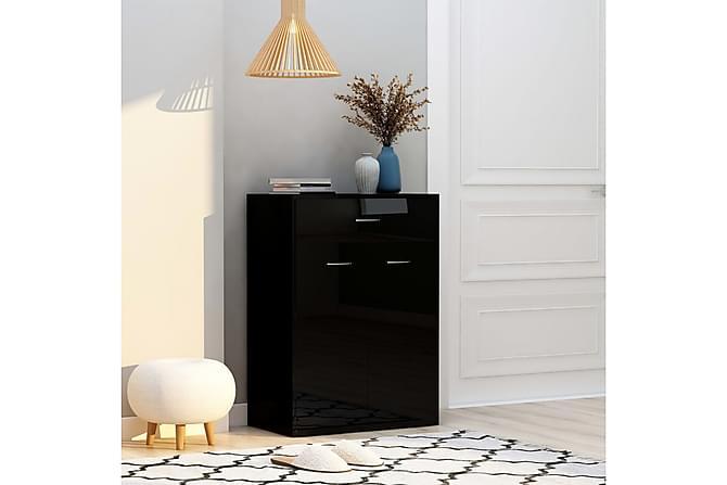 Skoskåp svart högglans 60x35x84 cm spånskiva - Svart - Möbler - Förvaring - Skoförvaring