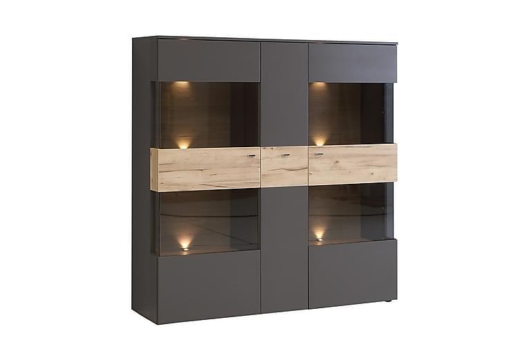 Ameysford Vitrinskåp 150 cm - Grå/Brun - Möbler - Förvaring - Vitrinskåp