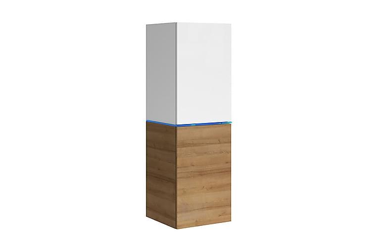 Domino Vitrinskåp 35x33x109 cm - Beige/Brun - Möbler - Förvaring - Vitrinskåp