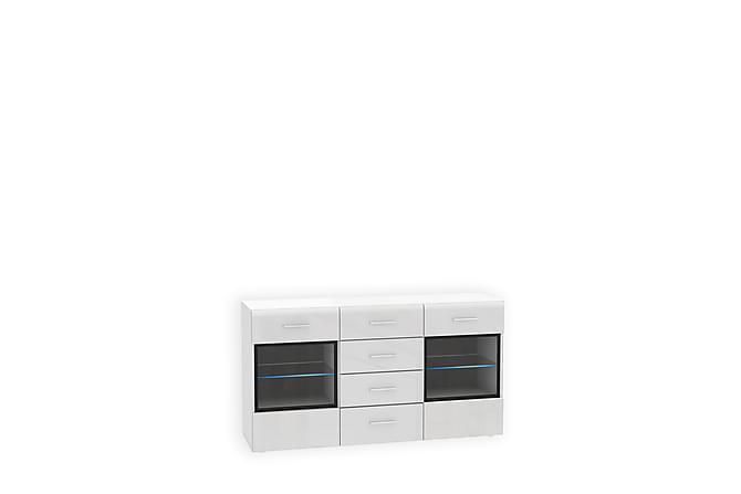 Enrrique Vitrinskåp 150x82 cm - Vit - Möbler - Förvaring - Vitrinskåp
