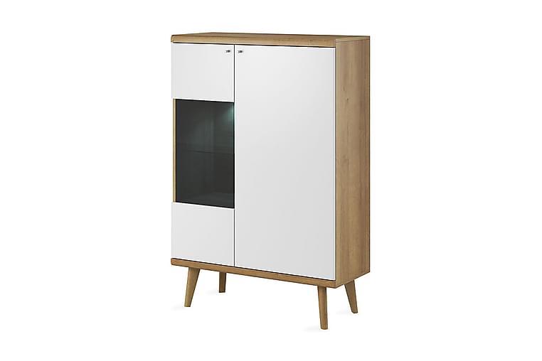 Primo Vitrinskåp 90x40x134 cm - Beige/Brun - Möbler - Förvaring - Vitrinskåp