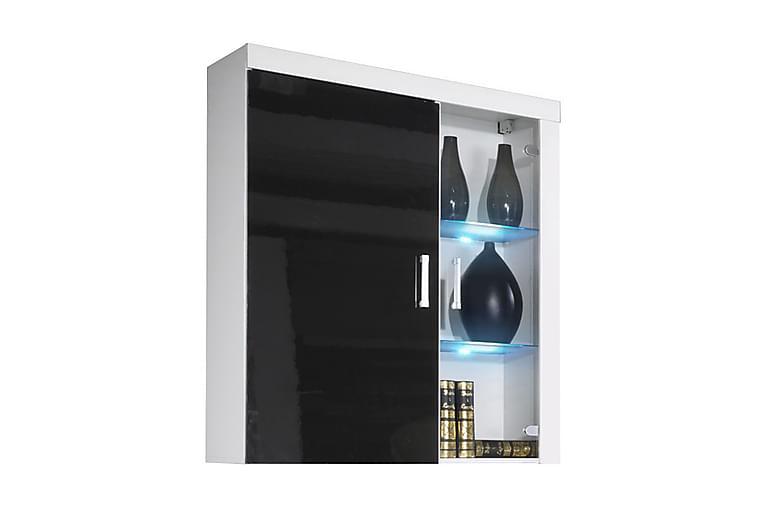Samba Vitrinskåp 90x35x111 cm - Svart/Vit - Möbler - Förvaring - Vitrinskåp