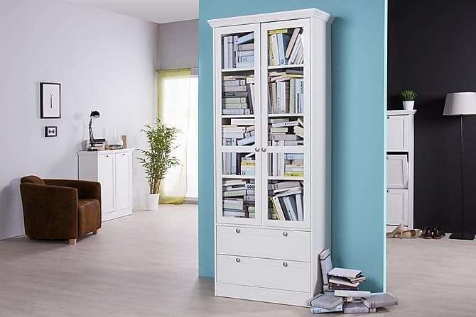 Sofiero Vitrinskåp 80 cm - Vit - Möbler - Förvaring - Vitrinskåp
