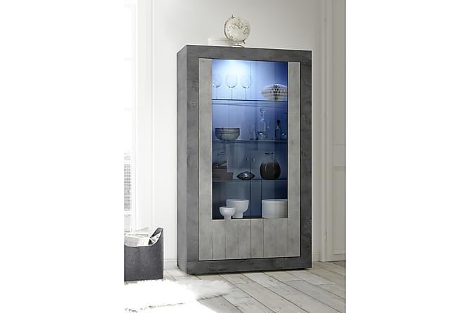 Urbino Vitrinskåp 110 cm - Grå - Möbler - Förvaring - Vitrinskåp