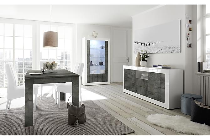 Urbino Vitrinskåp 110 cm - Vit/Gråmelerad - Möbler - Förvaring - Vitrinskåp