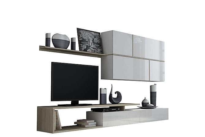Wymer TV-bänk - Ek/Vit - Möbler - Förvaring