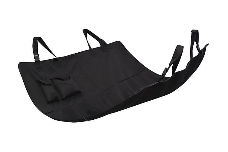 Baksätesskydd för husdjur 148x142 cm svart - Svart - Möbler - Husdjursmöbler - Burar & transportburar