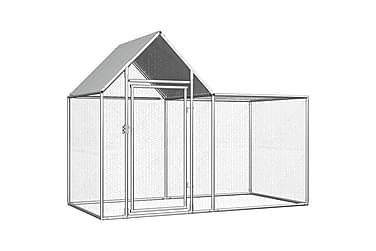 Hönsbur 2x1x1,5 m galvaniserat stål