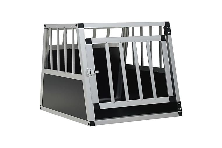 Hundbur med enkel dörr 54x69x50 cm - Silver - Möbler - Husdjursmöbler - Burar & transportburar