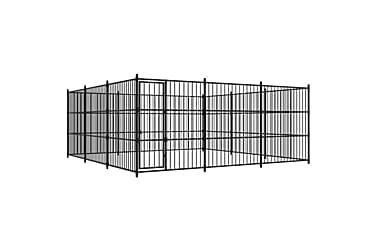Hundgård för utomhusbruk 450x450x185 cm