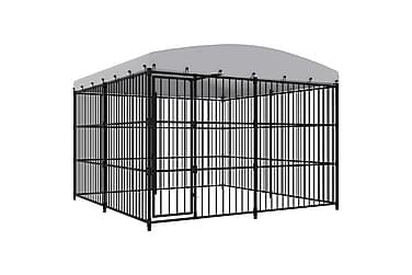 Hundgård för utomhusbruk med tak 300x300x210 cm