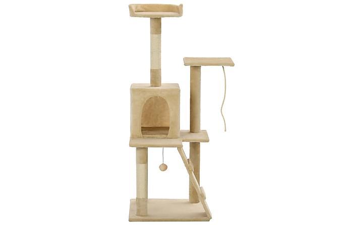 Foxy Katträd med Klöspelare 120 cm - Beige - Möbler - Husdjursmöbler - Kattmöbler