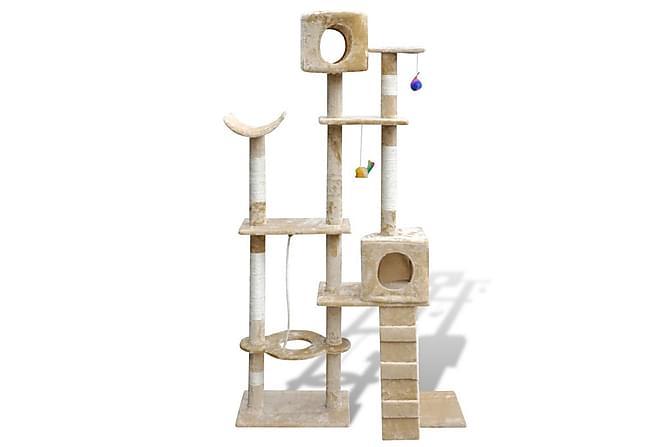 Foxy Klösträd 2 Hus 175 cm - Beige - Möbler - Husdjursmöbler - Kattmöbler