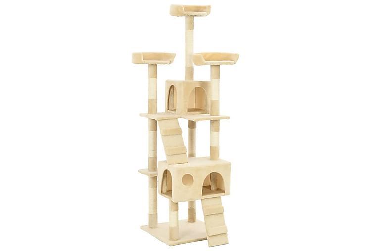 Katträd med klöspelare i sisal 170 cm beige - Beige - Möbler - Husdjursmöbler - Kattmöbler