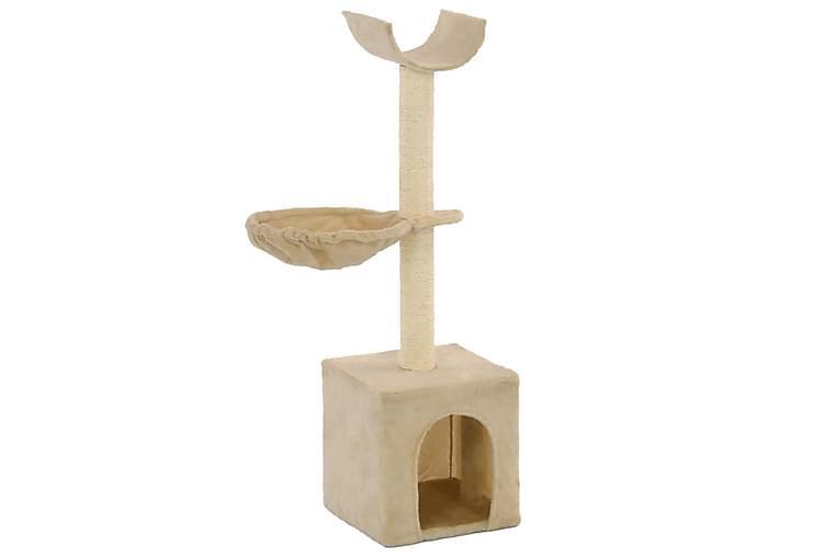 Katträd med klöspelare och 105 cm beige - Beige - Möbler - Husdjursmöbler - Kattmöbler