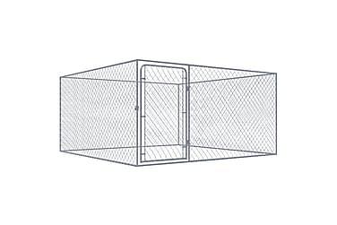 Hundgård för utomhusbruk galvaniserat stål 2x2x1,85 m