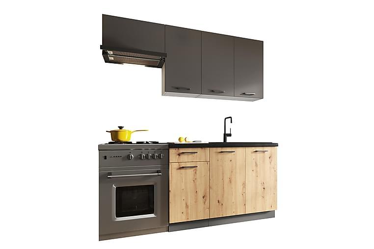 Köksmöbelset CLARA - Grå/Tre/Natur - Möbler - Möbelset - Möbelset för kök & matplats