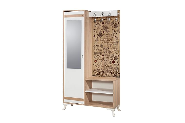 Brokind Klädförvaring 100 cm - Brun - Möbler - Möbelset - Möbelset för hall & entre