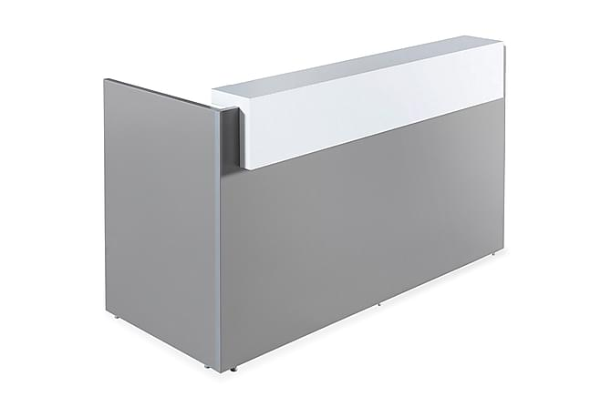 Gruchow Receptionsskrivbord 290 cm - Grå|Vit - Möbler - Möbelset - Möbelset för kontor