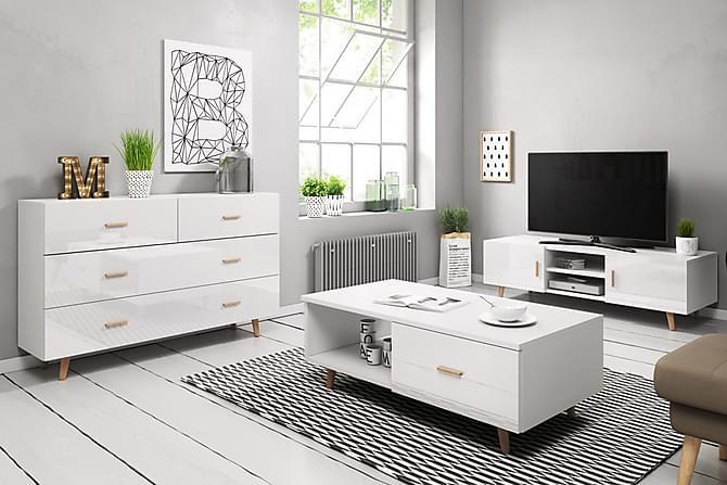 Danderyd Vardagsrumspaket 140 cm - Vit - Möbler - Möbelset - Möbelset för vardagsrum