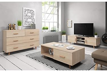 Danderyd Vardagsrumspaket TV-Bänk+Skänk+Soffbord