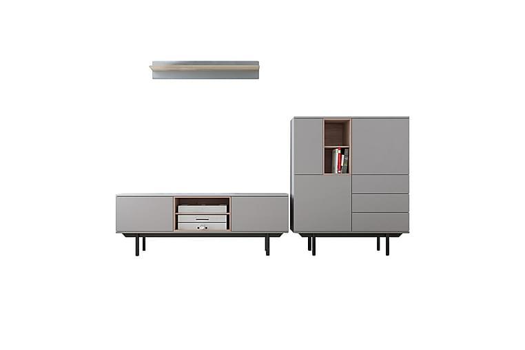 Ingesarfven Vardagsrumsset - Grå|Trä/Natur - Möbler - Möbelset - Möbelset för vardagsrum